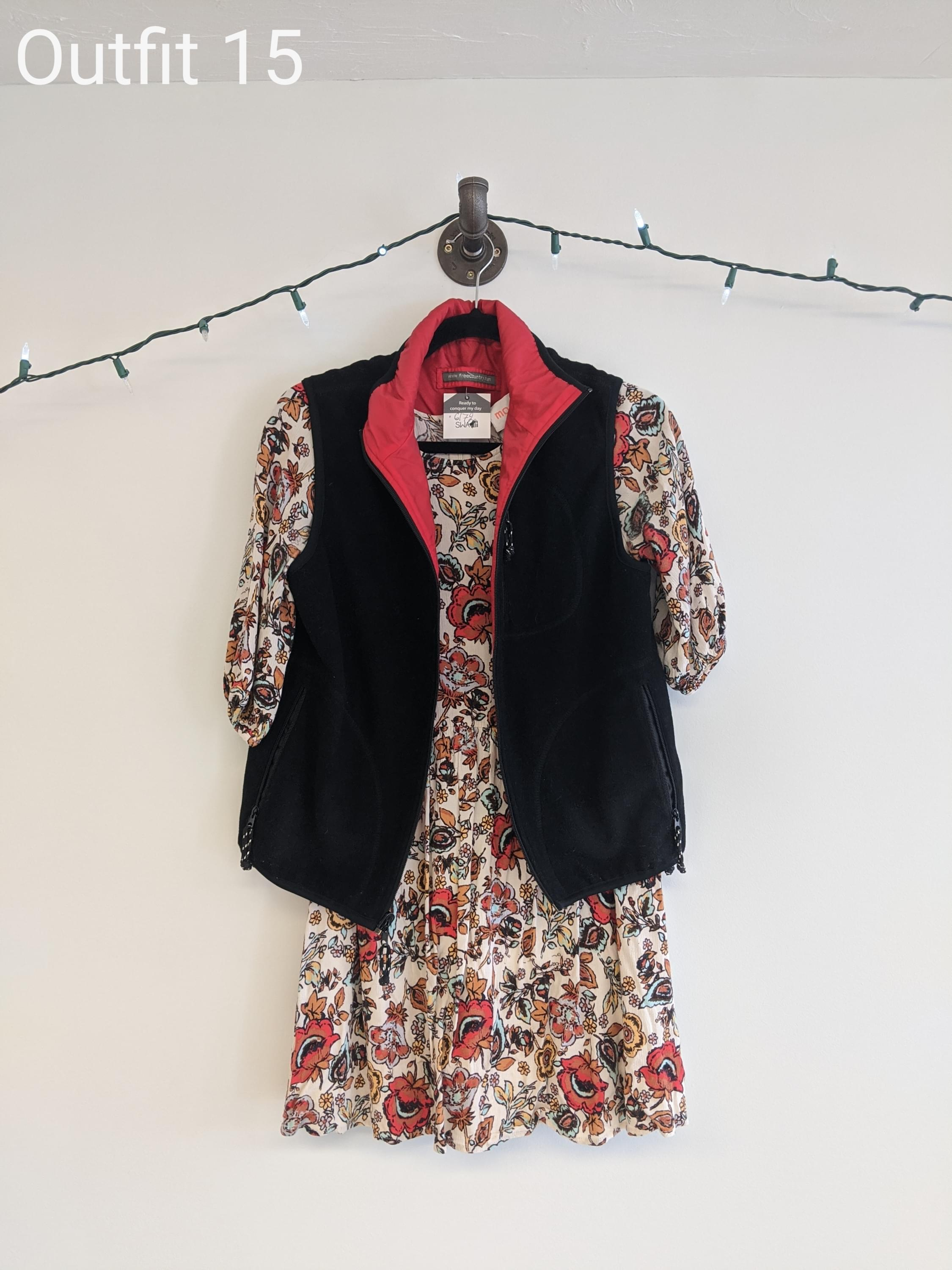 Dress with vest